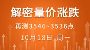 【解密量价涨跌】再测3546~3536点 10-18